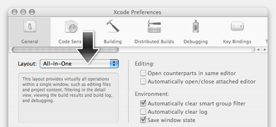 Xcode All-in-One View